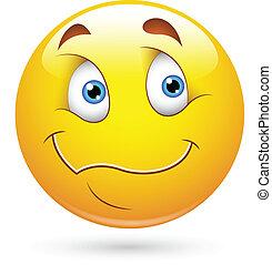 Wondering Smiley Face - Creative Abstract Conceptual Design...