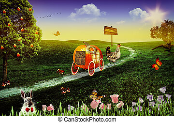 Wonderland. Abstract fairy tale backgrounds for your design