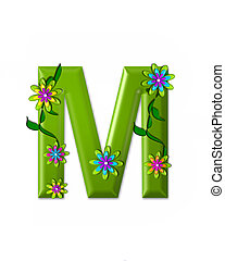 wonderland, alfabeto, m