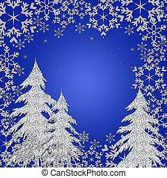 wonderland, inverno, illustrazione