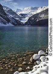 wonderland, louise, inverno, lago