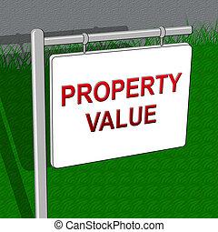 woning, illustratie, indiceert, waarde, prijzen, eigendom, 3d