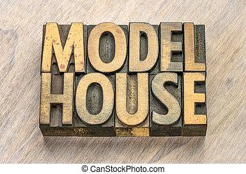 woning, model, hout, type, woorden