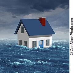 woning, overstroming