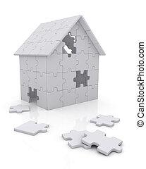 woning, puzzelstukjes