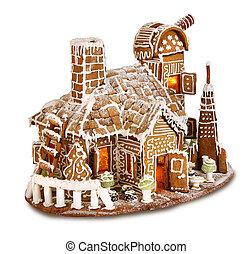 woning, santas, gingergread, observatorium