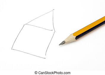 woning, tekening