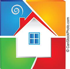 woning, vastgoed, logo
