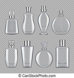 wonność, butelki, perfumy, różny, female., samiec