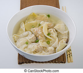 Wonton Soup. pork soup asia food