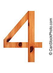 wood alphabet 4