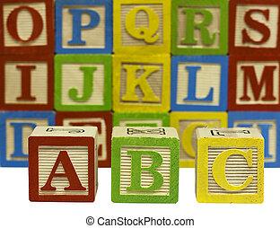 wood alphabet blocks