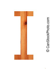 wood alphabet I