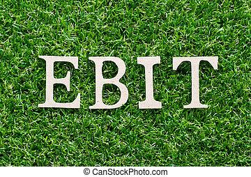 Increase ebit concept  businessman plan (predict) ebit growth