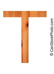 wood alphabet T