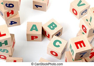 wood alphabet