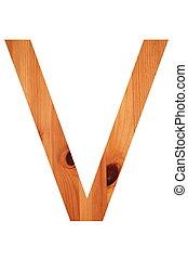 wood alphabet V