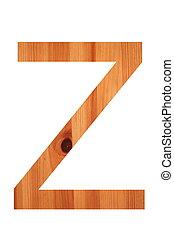 wood alphabet z