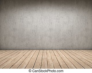 Wood and concret room