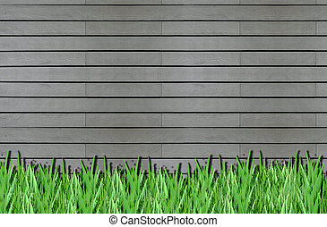 Wood and Grass for background and text