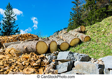 Wood and Stone as Natural Resources