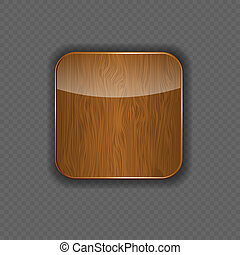 Wood application icon vector illustration