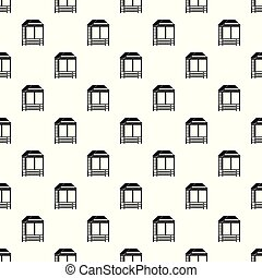 Wood asian house pattern seamless vector