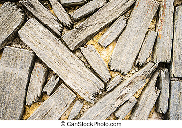 Wood background from above