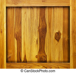 Wood background in frame