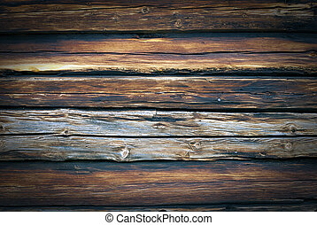 Wood background - Old, grunge wood wall used as background