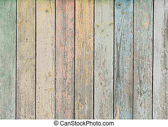 wood background or texture with pastel colored planks