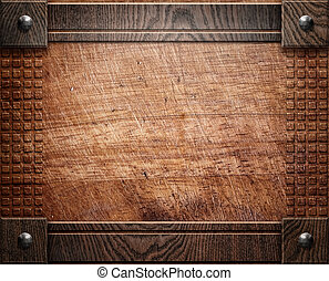 wood background texture (antique furniture) - darck old...