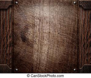 wood background texture (antique furniture) - darck old...