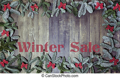 wood background winter sale