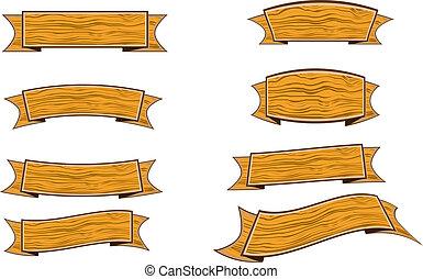 wood banner
