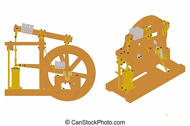 Wood Beam Engine original and simple colored - Wood Beam ...