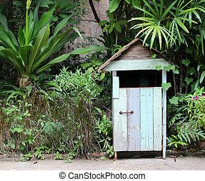Wood bin In The Park