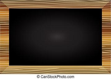 Wood blackboard element