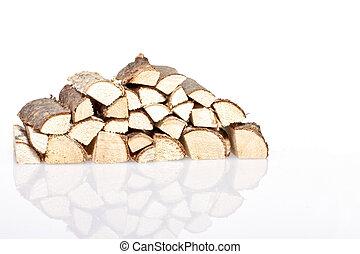 Wood blocks on a white background