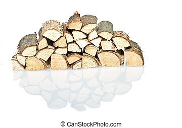 Wood blocks on a white background