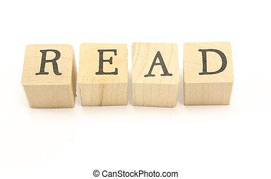 Wood Blocks spell Read