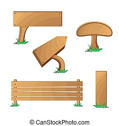 Wood boards set
