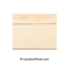 Wood box isolated on white