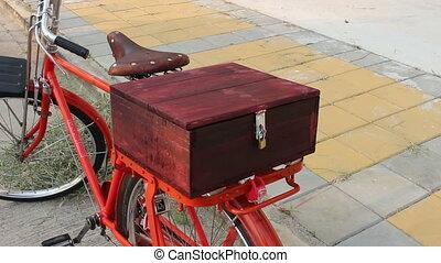Wood Box on Bike