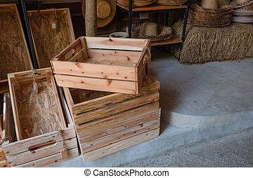 wood box on the floor