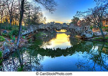 Wood Bridge at Dawn