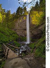 Wood Bridge at Latourell Falls