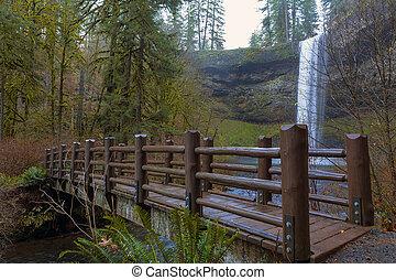 Wood Bridge at Silver Falls State Park