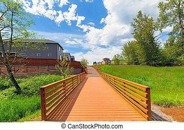 Wood Bridge in the Park