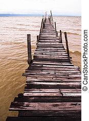 Wood bridge